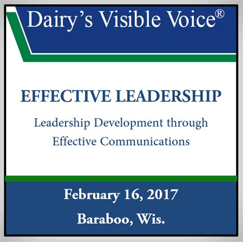 Leader S Voice Effective Leadership Communication K B14 80810 dairy s visible voice to develop effective leadership skills