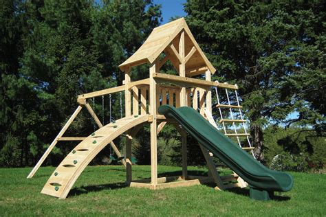 swing set with rock wall cedar swing sets the havendale climber play set