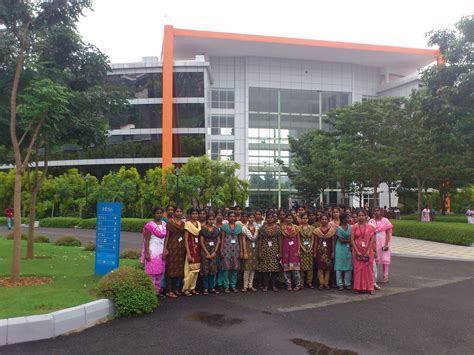 infosys in mahindra city chennai industrial visit to infosys year news events of