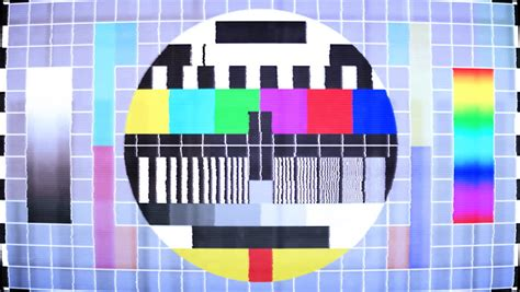 test pattern noise test pattern tv bad signal 25 fps stock footage video