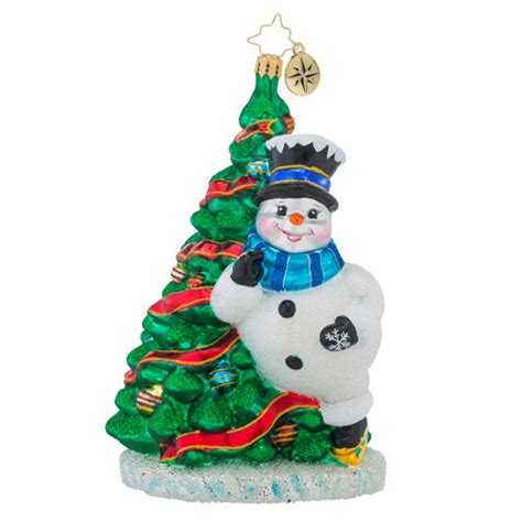 christopher radko tree ornaments christopher radko on snowman with