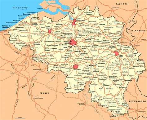 detailed map of maps of belgium detailed map of belgium in
