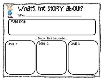 printable graphic organizer main idea 111 best main idea and details images on pinterest