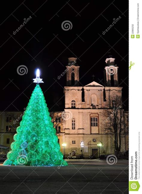 ecological christmas ecological tree in city stock photography image 22865232