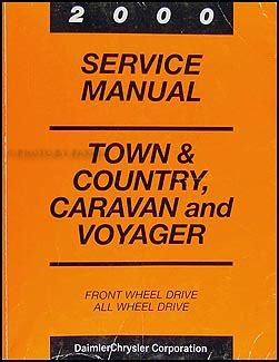 auto manual repair 2000 dodge grand caravan electronic throttle control 2000 caravan town country voyager van repair shop manual original