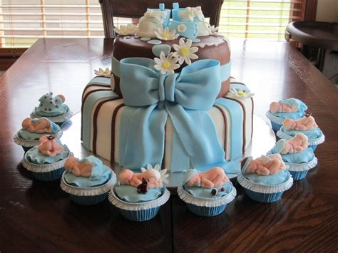 boy baby shower cake and cupcakes cakecentral com