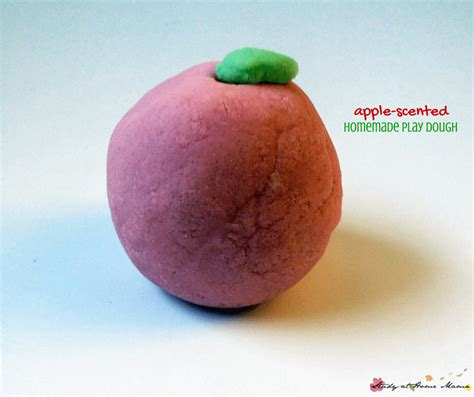apple scents homemade play dough fruit play dough
