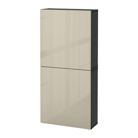 besta beige best 197 wall cabinet with 2 doors black brown selsviken