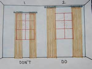 The long and short of it how to hang curtains