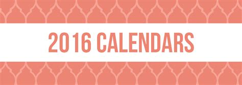 printable banner calendar 2015 free printable 2016 calendar templates