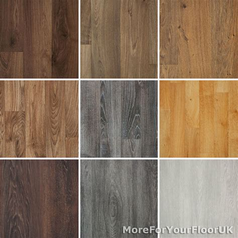 wood plank grain effect vinyl flooring quality lino     mm cheapest ebay