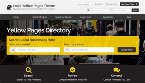 15 Best Directory Themes Scripts To Build Directory Websites Directory Software Directory Yellow Pages Website Template Free