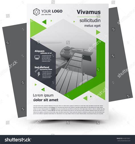 leaflet design size flyer brochure design business flyer size stock vector