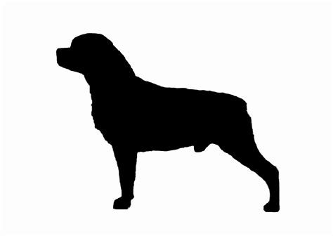 rottweiler stickers decals rottweiler 003 silhouette vinyl sticker decal