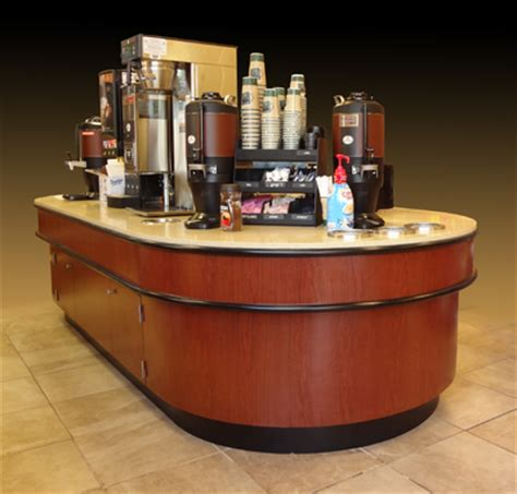 Corner Cabinet Desk Millwork Point Of Sale Cash Counters Coffee Bars