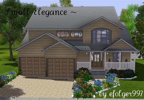 Small Homes Big Families Mod The Sims Small Elegance A Family Home