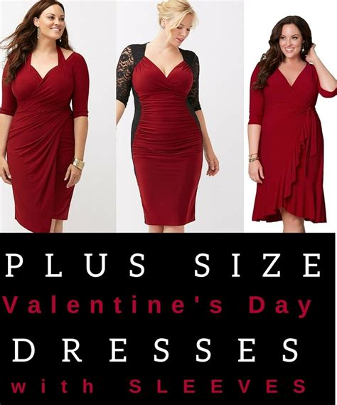 size valentines plus size dresses for s day with sleeves