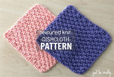 printable free knitting patterns textured knit dishcloth pattern printable pdf download