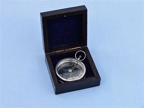 terrasse w co compass buy chrome beveled lensatic compass w rosewood box 4 inch