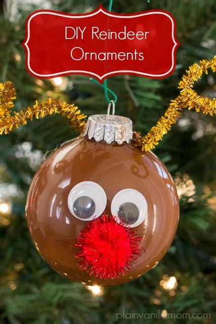 diy reindeer ornament plain vanilla mom