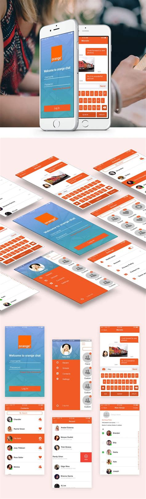 chat mobile free mobile chat application ui design free psd set psd