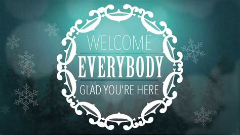welcome message winter background blue tri state worship