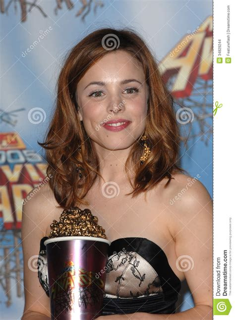 best breakthrough performance mtv awards mcadams editorial stock image image 34829244