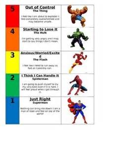 super hero 5 point scale heroes zones of regulation and