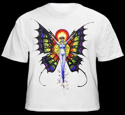 design art t shirt butterfly lady mens fantasy art t shirt white
