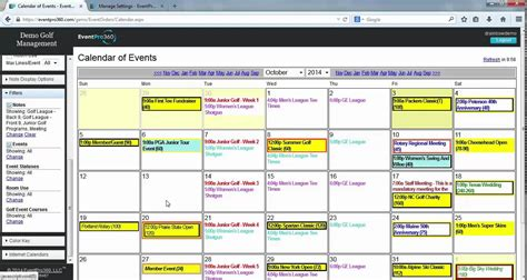 calendar template software eventpro360 calendar detail event management software