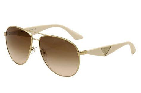Kacamata Sunglass Prada 50p Biru prada triangle spr53q spr 53q zvn 0a6 pale gold white aviator sunglasses 60mm ebay
