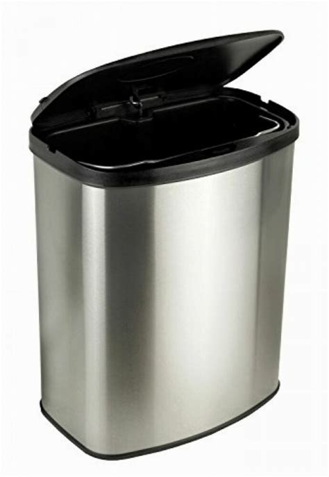 trash touchless infrared wastebasket stainless steel