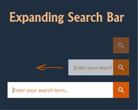 html design search box how to create an expanding search box with css