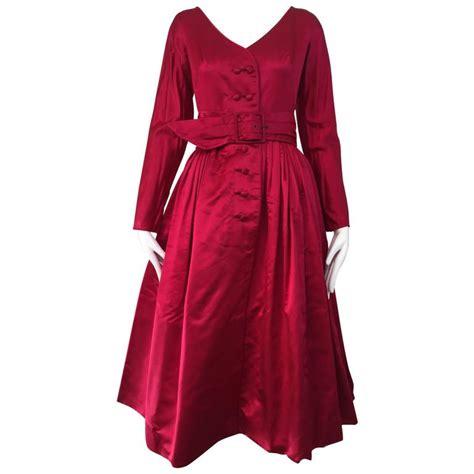Magenta Cocktail Dress Batik 1950s galanos magenta silk cocktail dress for sale at 1stdibs