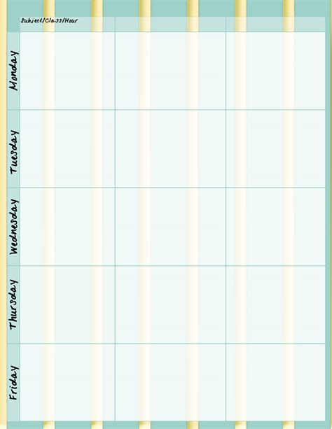 free printable weekly planner for teachers free teacher planner printables new calendar template site