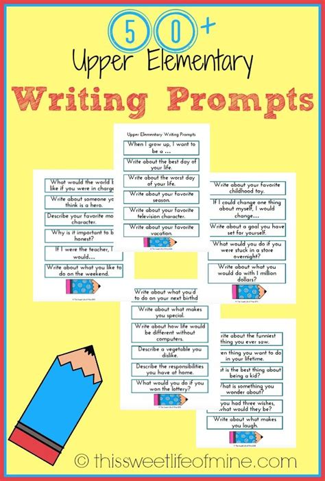 Essay Topics For Primary School Students by Elementary Writing Prompts