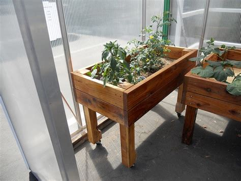 Rolling Planter Boxes by Rolling Raised Planter Box Outdoor Spaces