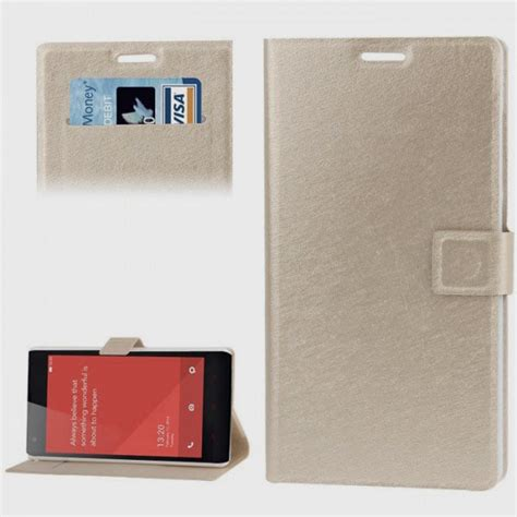 Flip Leather Xiaomi Redmi 1s flip leather with credit card slots holder for