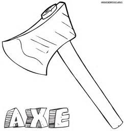 coloring page axe coloring pages coloring pages to and print