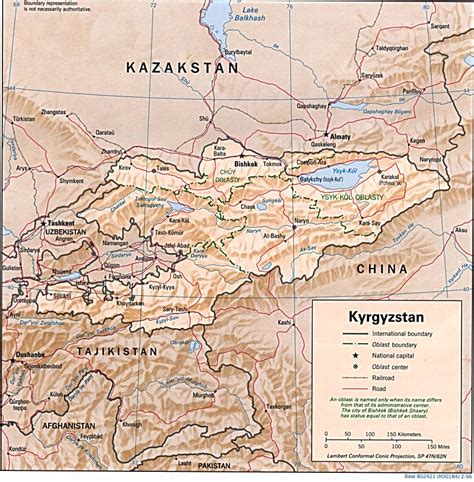 kirgistan map nationmaster maps of kyrgyzstan 8 in total