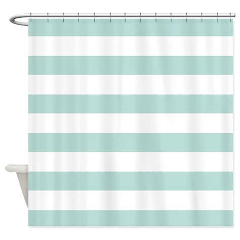 Light Teal Curtains Light Teal Bold Stripes Shower Curtain By Hhtrendyhome