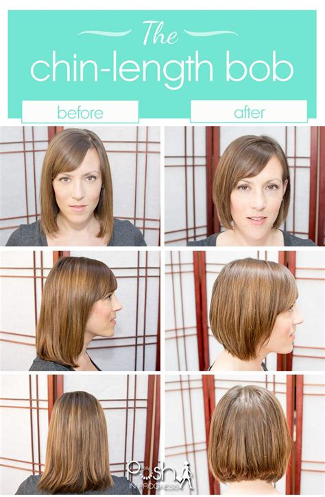 before and after haircuts for women short hair trend the chin length bob chin length bob