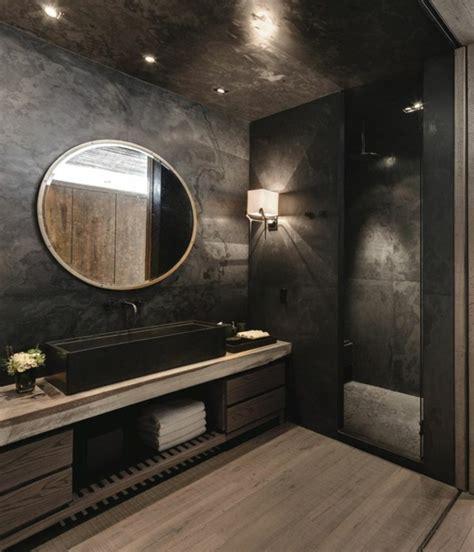 badezimmer ideen schwarz 38 beispiele f 252 r badezimmer in schwarz archzine net