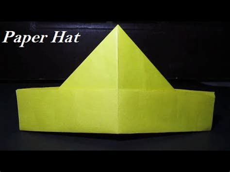 How To Make Paper Hats Out Of Newspaper - paper hat how to make a paper hat simple