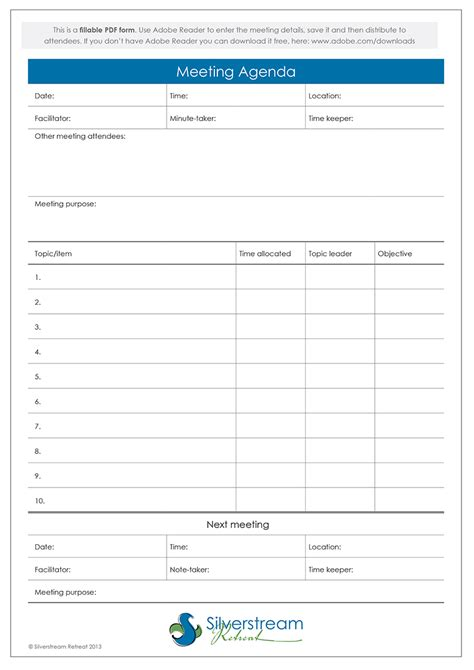 effective agenda template agenda template category page 1 efoza