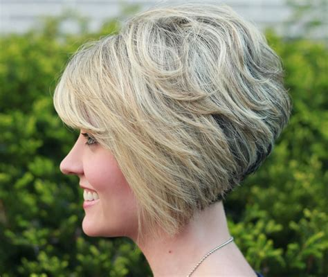 vies of side and back of wavy bob hairstyles 30 popular stacked a line bob hairstyles for women