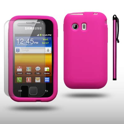Casing Hp Samsung Galaxy S5360 silicone for samsung galaxy y s5360 lcd guard stylus pink ebay