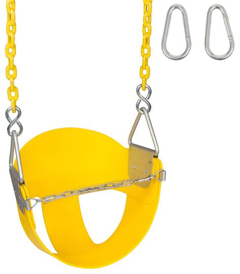 bucket swing with chain high back half bucket swing seat with coated chain 5 5