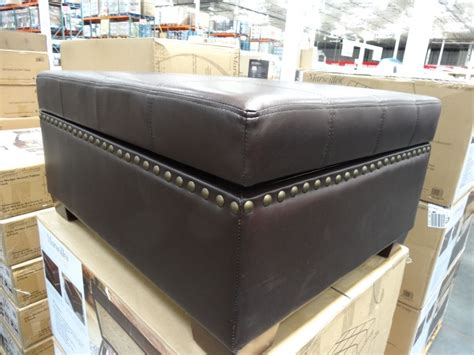 brown leather ottoman with tray brown leather ottoman with storage and trays home design