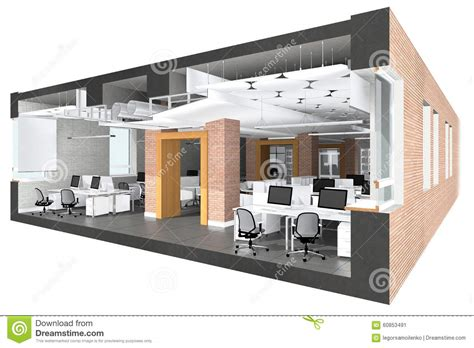 section office cross section of the office space stock image image